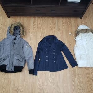 3 coats/vest all for 20$